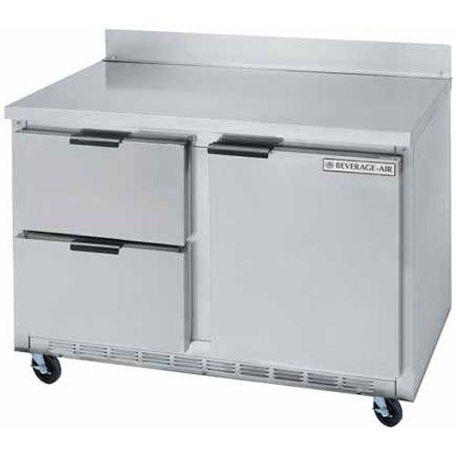 "Beverage-Air WTFD48AHC-2 48"" Two Drawer / One Door Worktop Freezer - 13.9 cu. ft."