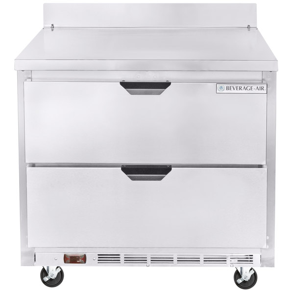 "Beverage-Air WTFD36AHC-2 36"" Two Drawer Worktop Freezer"