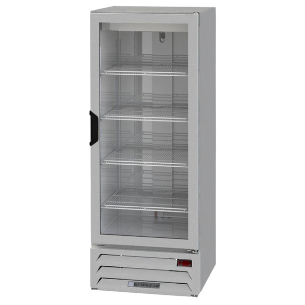 "Beverage-Air HBF12-1-G-S 21"" Horizon Series One Section Glass Door Reach-In Freezer with LED Lighting Main Image 1"