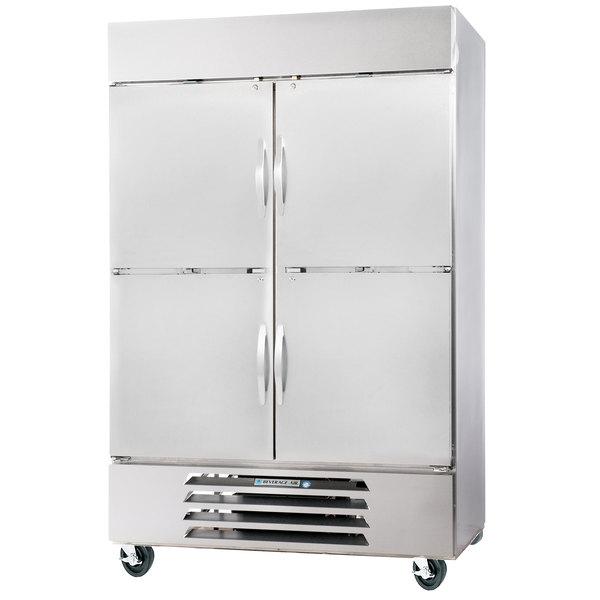 "Beverage-Air FB49-1HS 52"" Vista Series Two Section Solid Half Door Reach-In Freezer - 49 cu. ft."