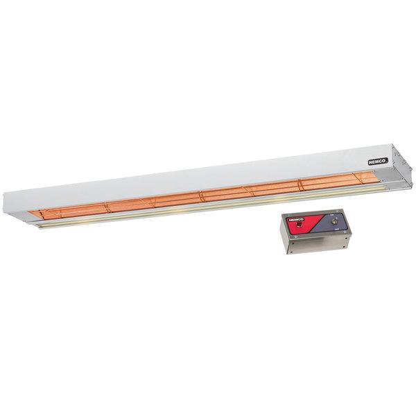 """Nemco 6155-48 48"""" Single Infrared Strip Warmer with 69007 Remote Control Box - 240V, 1100W"""