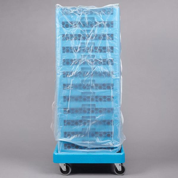 "Carlisle RDC107 OptiClean 48"" Clear Glass Rack Dust Cover Main Image 1"