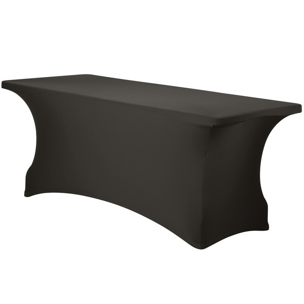 """Marko EMB5026RT418512 Embrace 48"""" x 18"""" Charcoal Spandex Table Cover"""