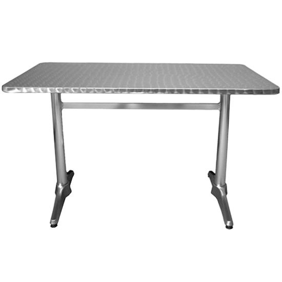 "American Tables & Seating AL3048 30"" x 48"" Rectangular Aluminum Table Main Image 1"