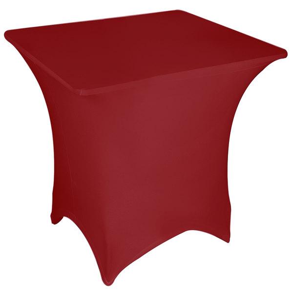"Marko EMB5026S3636046 Embrace 36"" Square Burgundy Spandex Table Cover"
