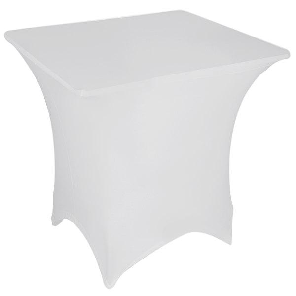 "Marko EMB5026S3030010 Embrace 30"" Square White Spandex Table Cover"