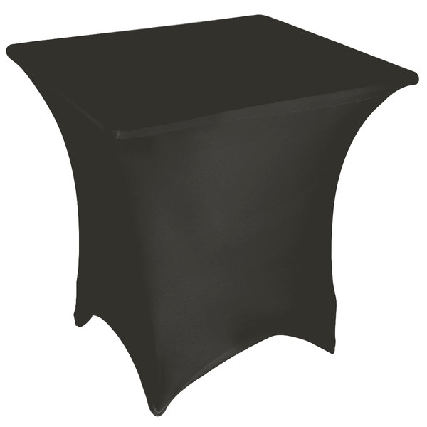 """Marko EMB5026S6060512 Embrace 60"""" Square Charcoal Spandex Table Cover"""
