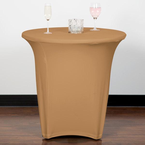 "Marko EMB5026R24049 Embrace 24"" Round Sandalwood Spandex Table Cover"
