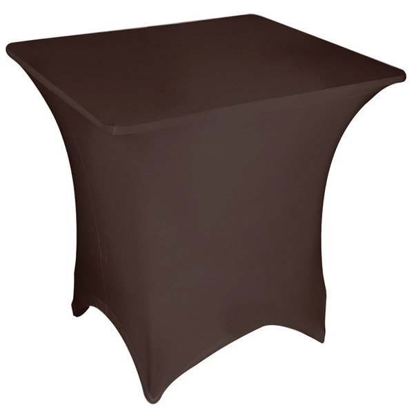 """Marko EMB5026S4848515 Embrace 48"""" Square Chocolate Spandex Table Cover"""