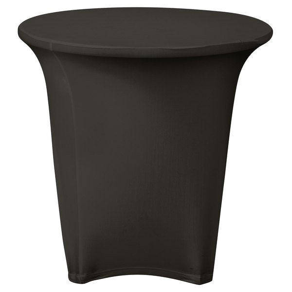 """Marko EMB5026R30512 Embrace 30"""" Round Charcoal Spandex Table Cover"""