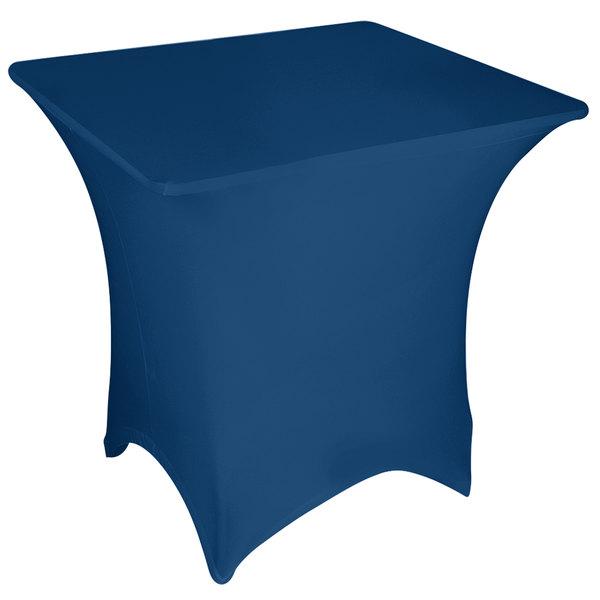 "Marko EMB5026S4848062 Embrace 48"" Square Cadet Blue Spandex Table Cover"