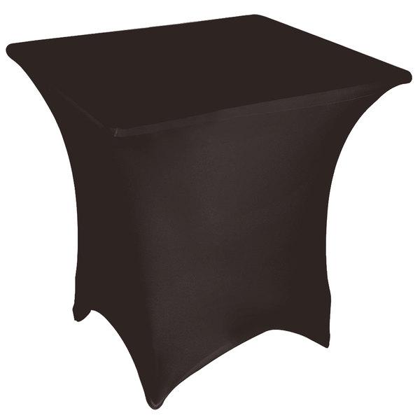 "Marko EMB5026S5454633 Embrace 54"" Square Dark Lava Spandex Table Cover"