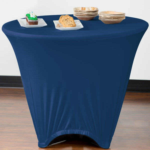 """Marko EMB5026R36062 Embrace 36"""" Round Cadet Blue Spandex Table Cover"""