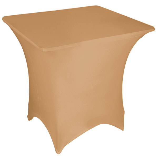 "Marko EMB5026S6060049 Embrace 60"" Square Sandalwood Spandex Table Cover"