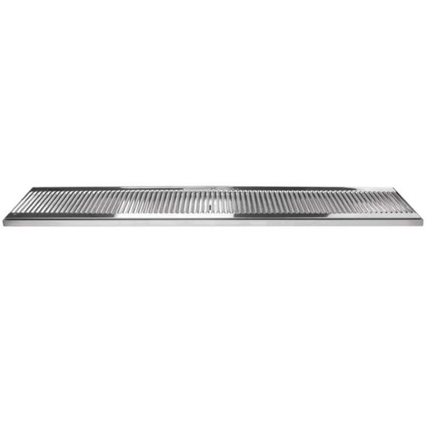 """Micro Matic DP-120D-39 5"""" x 39"""" Stainless Steel Surface Mount Drip Tray with Drain Main Image 1"""
