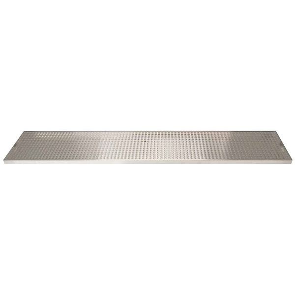 "Micro Matic DP-820D-72 8"" x 72"" Stainless Steel Surface Mount Drip Tray with Drain"