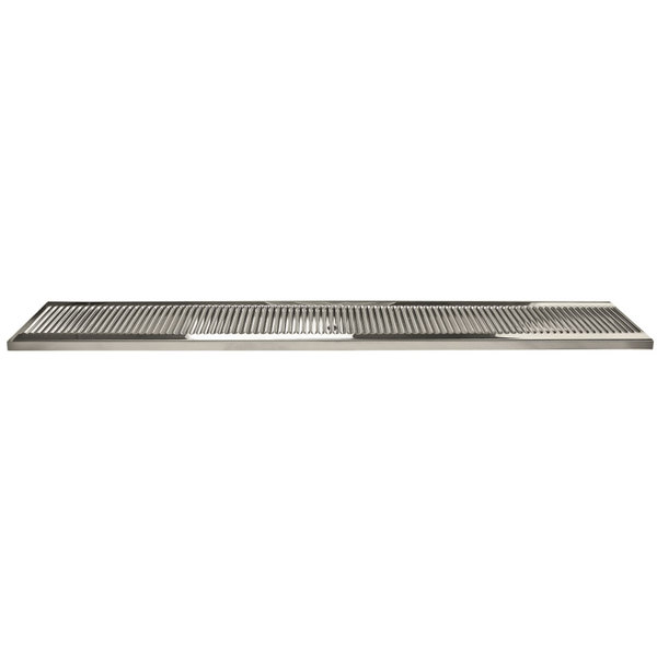 "Micro Matic DP-120D-51 5"" x 51"" Stainless Steel Surface Mount Drip Tray with Drain"