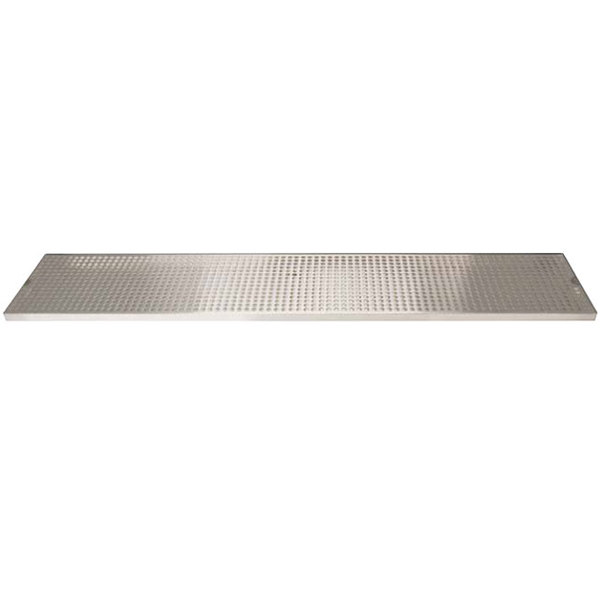 """Micro Matic DP-820D-45 8"""" x 45"""" Stainless Steel Surface Mount Drip Tray with Drain Main Image 1"""