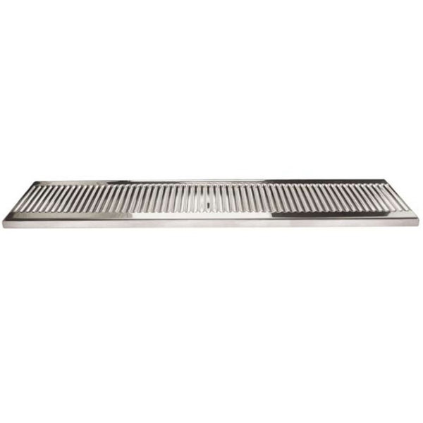 "Micro Matic DP-120D-33 5"" x 33"" Stainless Steel Surface Mount Drip Tray with Drain"