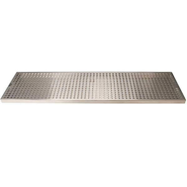 "Micro Matic DP-820D-30 8"" x 30"" Stainless Steel Surface Mount Drip Tray with Drain Main Image 1"