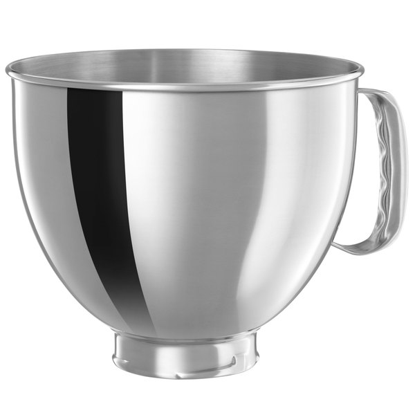 KitchenAid K5THSBP Stainless Steel 5 Qt. Mixing Bowl with Handle for Stand Mixers Main Image 1