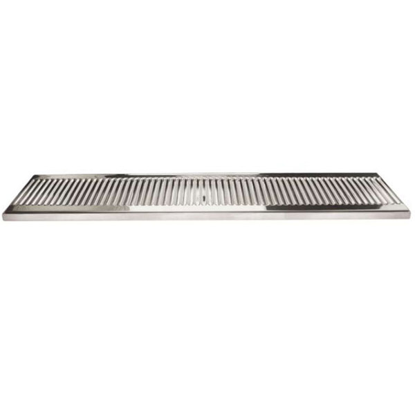 "Micro Matic DP-120D-30 5"" x 30"" Stainless Steel Surface Mount Drip Tray with Drain"