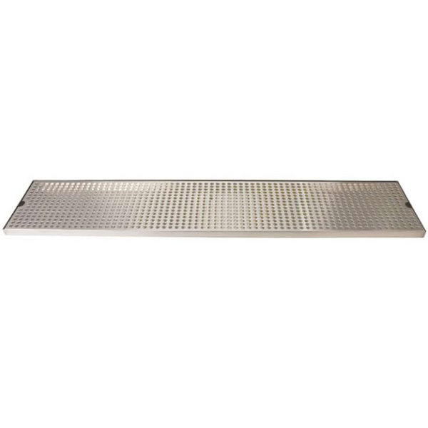"""Micro Matic DP-820D-36 8"""" x 36"""" Stainless Steel Surface Mount Drip Tray with Drain"""