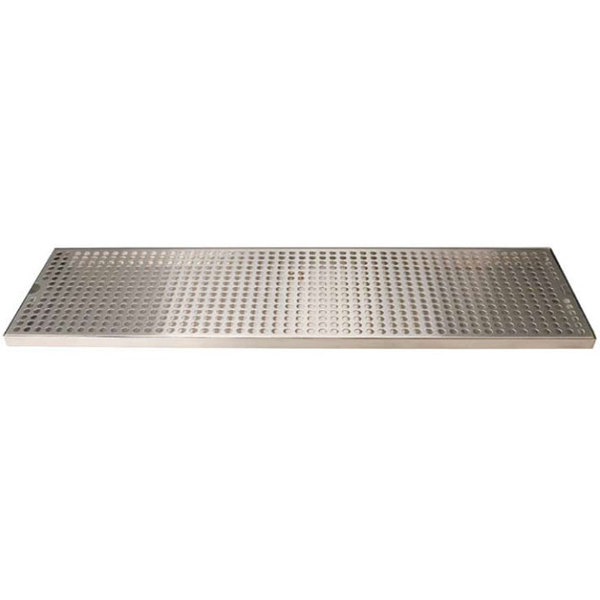 """Micro Matic DP-820D-33 8"""" x 33"""" Stainless Steel Surface Mount Drip Tray with Drain"""
