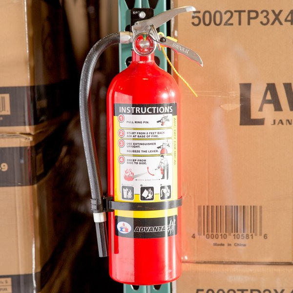 badger advantage adv550 5 lb dry chemical abc fire with wall bracket untagged and - Badger 5