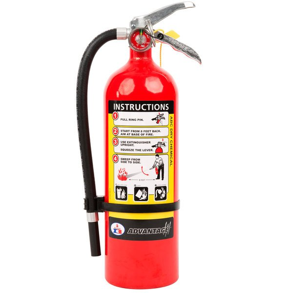 Abc Fire Extinguisher >> Badger Advantage Adv 550 5 Lb Dry Chemical Abc Fire Extinguisher With Wall Bracket Untagged And Rechargeable Ul Rating 3 A 40 B C
