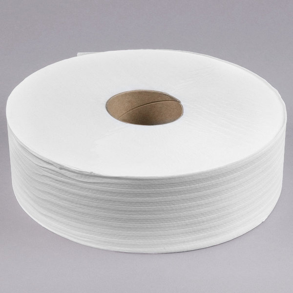 "Preserve 1-Ply Jumbo 4000' Toilet Paper Roll with 12"" Diameter - 6/Case"