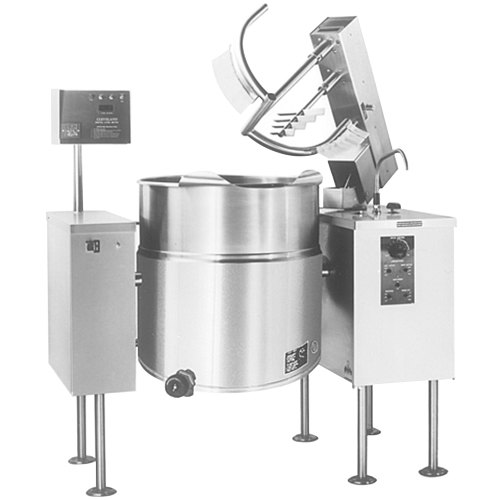 Cleveland MKEL-40-T 40 Gallon Tilting 2/3 Steam Jacketed Electric Mixer Kettle - 208/240V Main Image 1