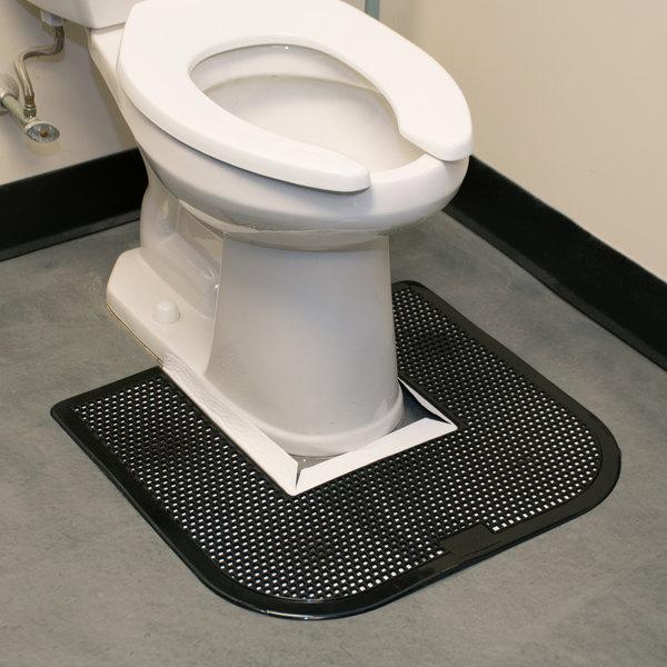 "23"" x 22"" Black Disposable Toilet Floor Mat (IMP 1550-5)"