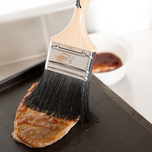"Ateco 60525 2 1/2"" Black Boar Bristle Pastry Brush (August Thomsen)"