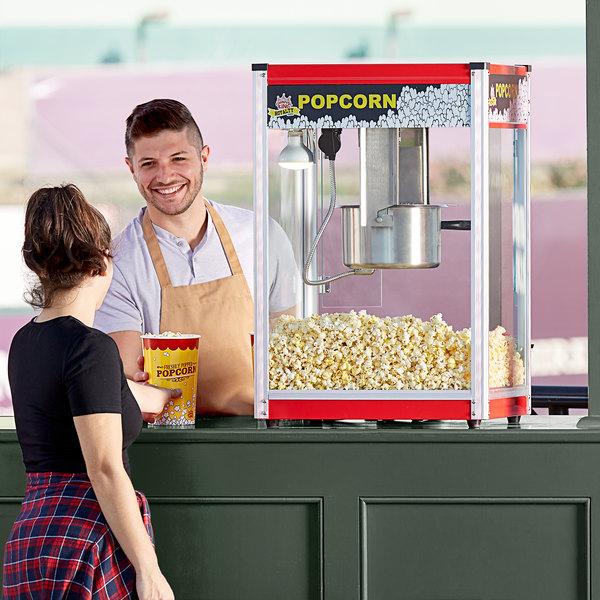 Carnival King PM50R Royalty Series 12 oz. Red Commercial Popcorn Machine / Popper - 120V Main Image 3
