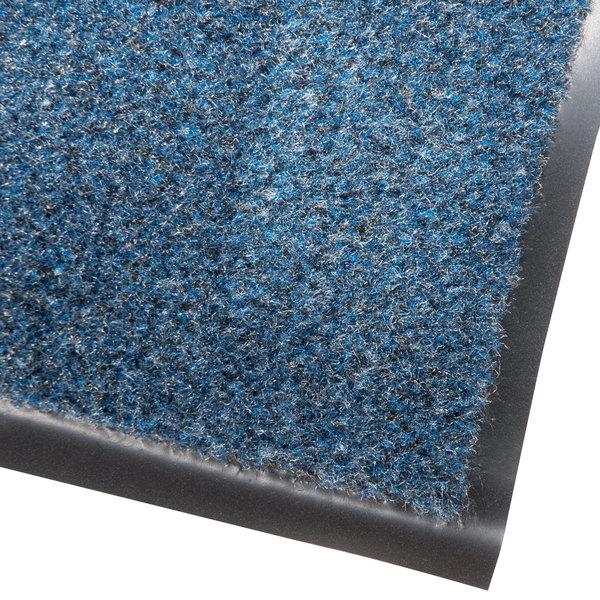 "Cactus Mat 1437M-U46 Catalina Standard-Duty 4' x 6' Blue Olefin Carpet Entrance Floor Mat - 5/16"" Thick"