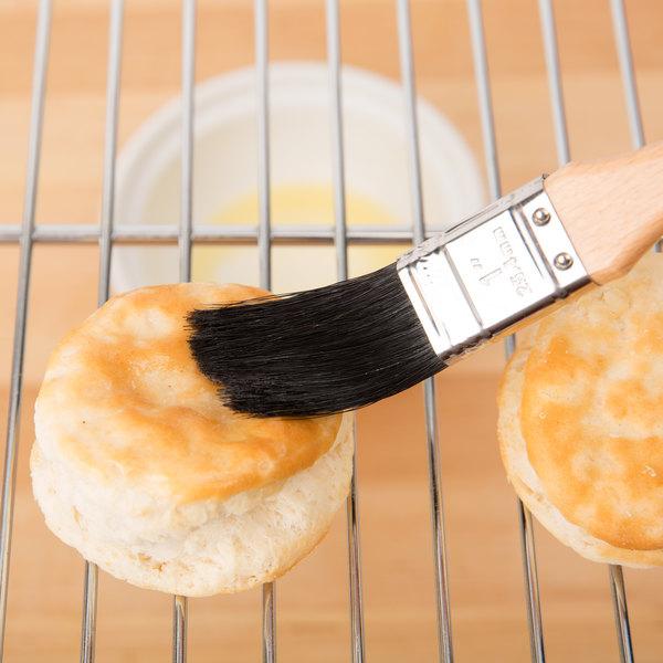 """Ateco 60510 1"""" Black Boar Bristle Pastry Brush"""