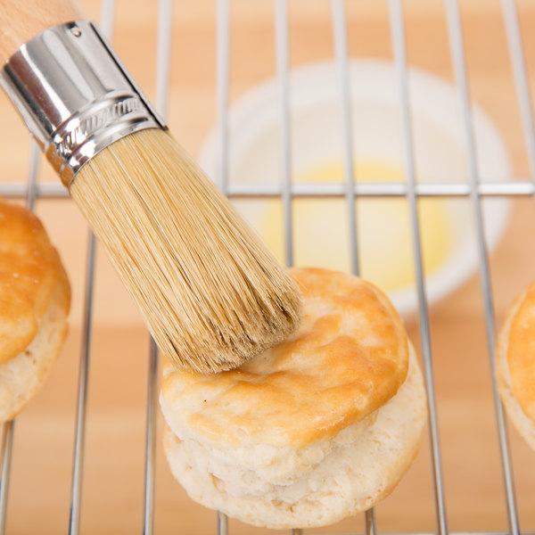 "Ateco 61200 1 1/4""W Round Boar Bristle Pastry/Decorating Brush"