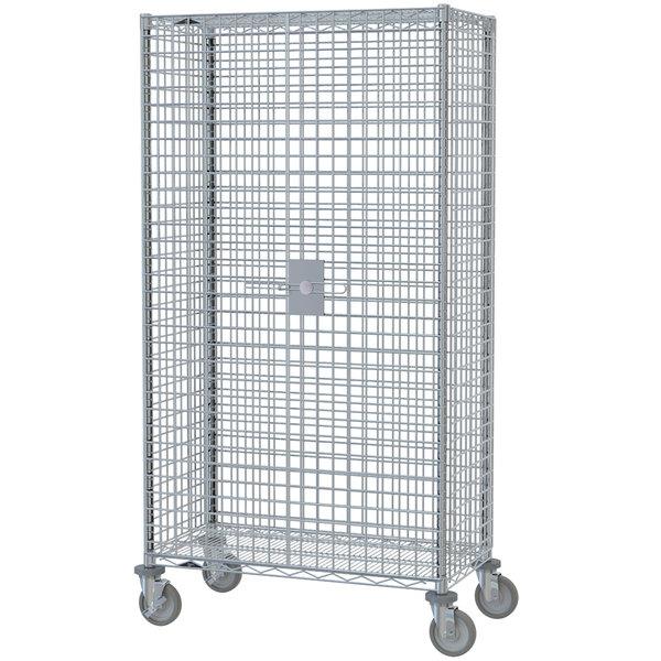 "Metro SEC63EC Mobile Standard Duty Wire Security Cabinet - 40 3/4"" x 33 1/2"" x 68 1/2"""