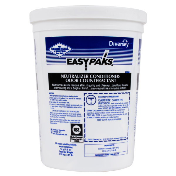 Diversey 990685 Easy Paks 0.5 oz. Floor Neutralizer Conditioner / Odor Counteractant Packet - 180/Case
