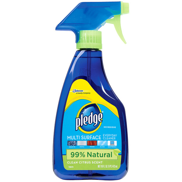 SC Johnson Pledge CB703123 16 oz. Trigger Sprayer Multi-Surface Cleaner / Duster - 6/Case