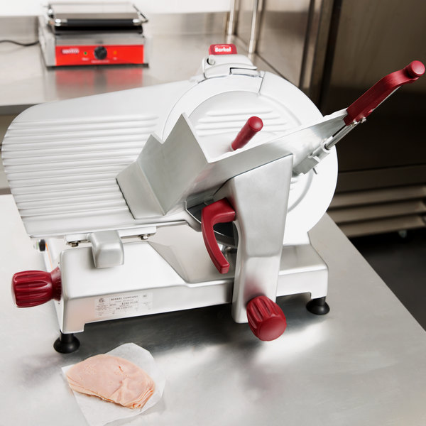 "Berkel 829E-PLUS 14"" Manual Gravity Feed Meat Slicer - 1/2 hp Main Image 4"