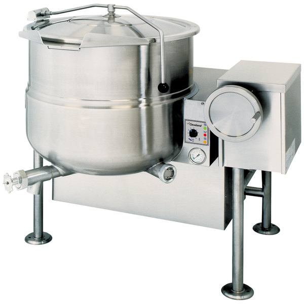 Cleveland KGL-80-T Natural Gas 80 Gallon Tilting 2/3 Steam Jacketed Kettle - 190,000 BTU