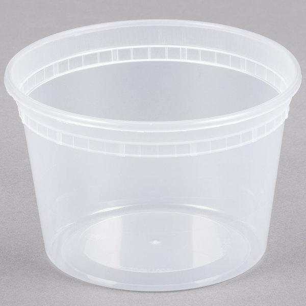 16 oz. Newspring SD5016Y DELItainer Translucent Round Deli Container - 40/Pack