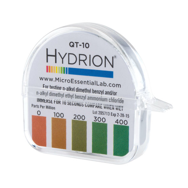 Hydrion QT-10 Quaternary Test Paper Dispenser - 0-400ppm