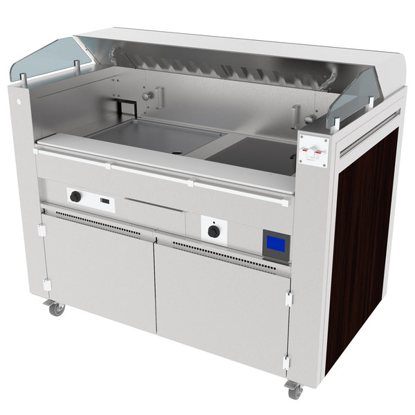 Kaliber Innovations MC-59-FPS-G2-R3 Valere Series Mobile Induction Griddle and Range Combo Cooking Station Main Image 1