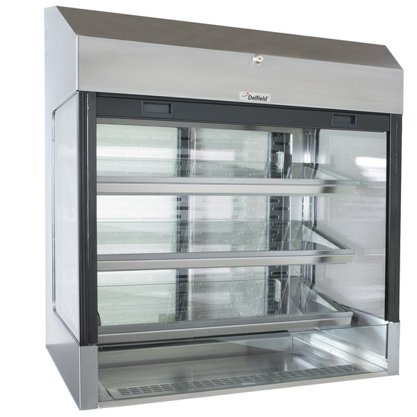 "Delfield ASM-48 48"" Drop-In Refrigerated Horizontal Air Curtain Merchandiser Main Image 1"