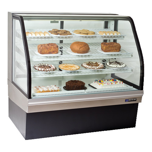 """Master-Bilt CGB-77 77"""" Curved Glass Refrigerated Bakery Display Case - 32 cu. ft."""