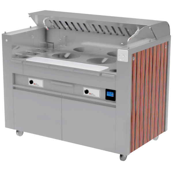 Kaliber Innovations MC-59-FPS-W2-W2 Valere Series Mobile Induction Wok Range Combo Cooking Station Main Image 1