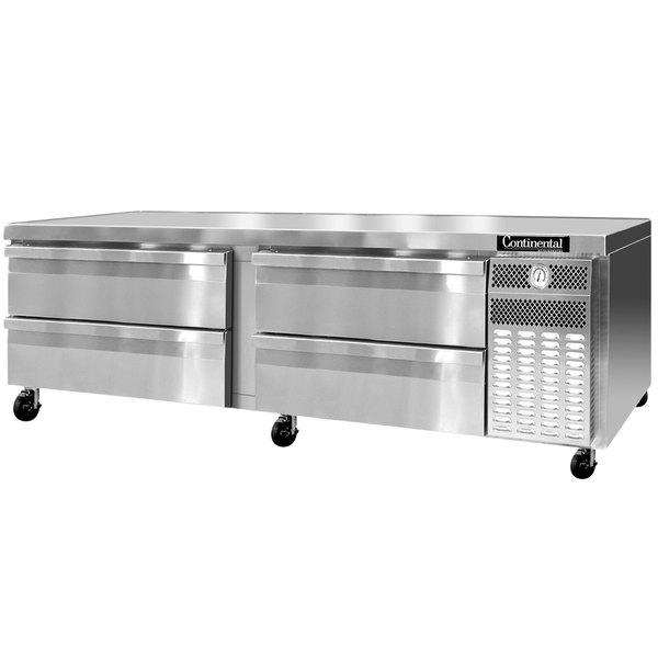 "Continental Refrigerator DL84GF 84"" Four Drawer Freezer Chef Base"